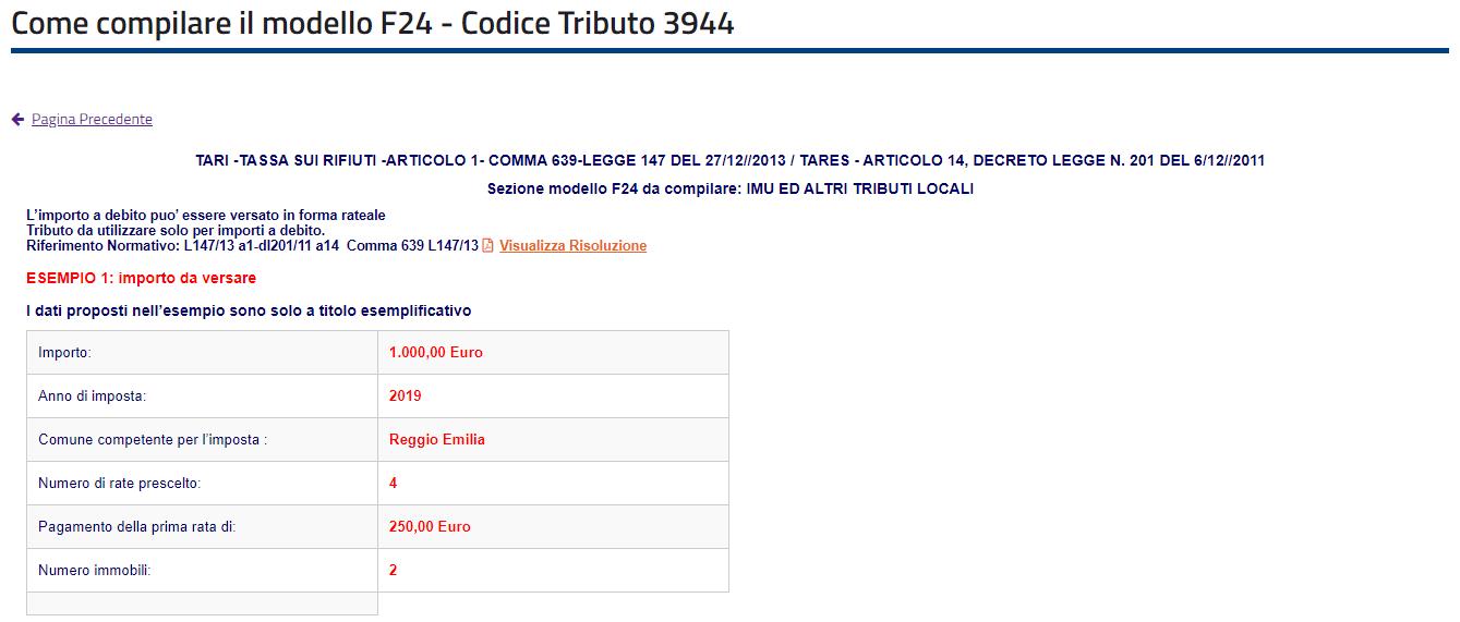 codice tributo 3944 come compilare f24